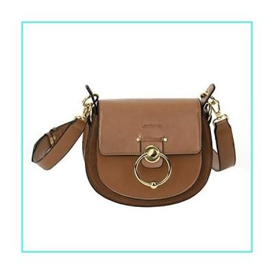 【新品】Leather Crossbody Bags for Women Saddle Bag Purse Handbags Cover Hasp Satchel Shoulder Buckle Bags Handmade Gift for Young Women & Teen Gi