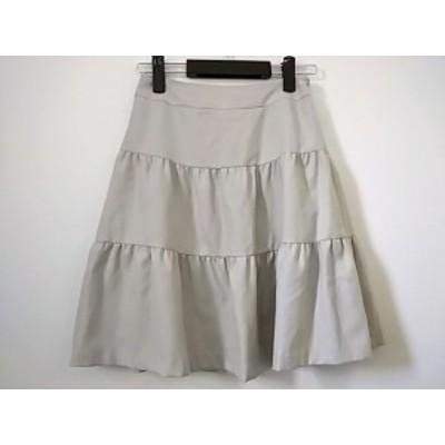 ルビーリベット Rubyrivet スカート サイズ36 S レディース ライトグレー【還元祭対象】【中古】