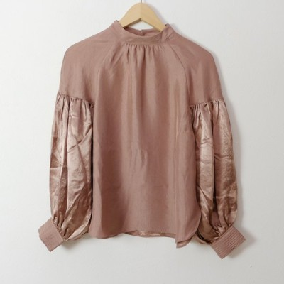 rikolekt | LUSTER BLOUSE (pink) | トップス【送料無料 リコレクト シンプル おしゃれ ブラウス 長袖】