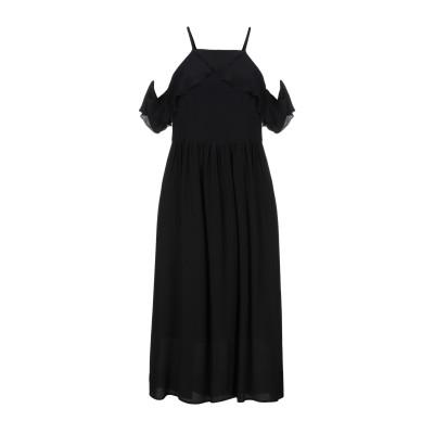 セミクチュール SEMICOUTURE 7分丈ワンピース・ドレス ブラック 42 シルク 100% 7分丈ワンピース・ドレス
