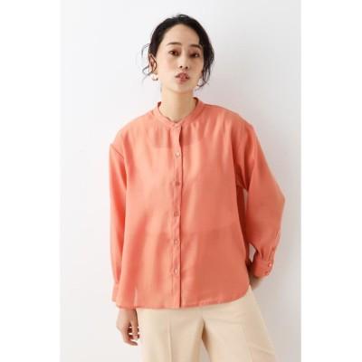 【シェルターセレクト】 ノーカラーシアーシャツ(Nocolor Sheer SH) レディース L/ORG1 FREE SHEL'TTER SELECT