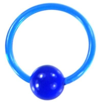 アクリルボディピアス 18G ブルー クリックポスト