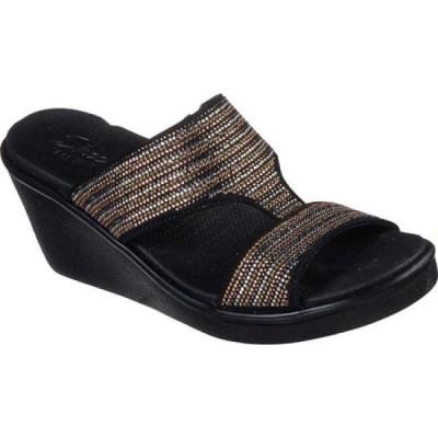 スケッチャーズ Skechers レディース サンダル・ミュール ウェッジソール シューズ・靴 Rumble On Bling Gal Wedge Sandal Black/Multi