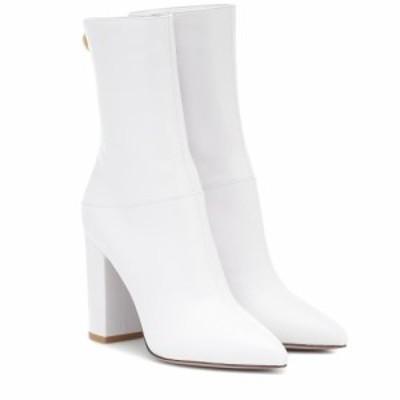 ヴァレンティノ Valentino レディース ブーツ ショートブーツ シューズ・靴 garavani leather ankle boots Bianco Ottico