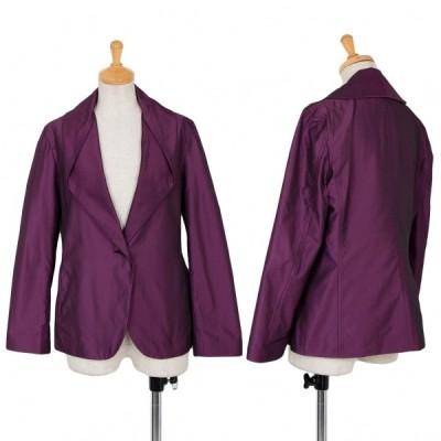イッセイミヤケISSEY MIYAKE ナイロンドレープカラージャケット 赤紫2 【レディース】