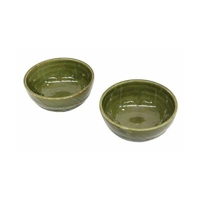 美濃焼 和風カフェシリーズ 古代 小鉢(小)織部 2個セット MZ-0513