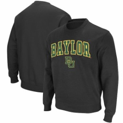 Colosseum コロセウム スポーツ用品  Colosseum Baylor Bears Charcoal Arch & Logo Crew Neck Sweatshirt