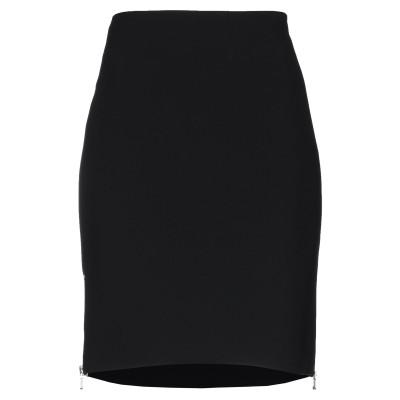 モスキーノ MOSCHINO ひざ丈スカート ブラック 46 トリアセテート 64% / ポリエステル 36% ひざ丈スカート