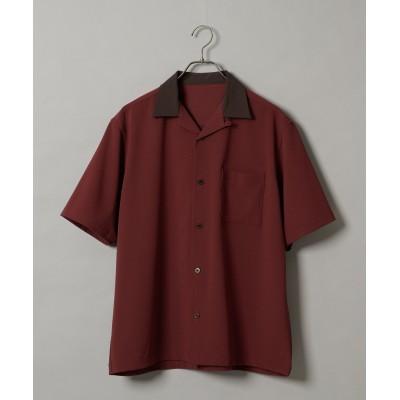 TRストレッチツイル襟切り替えオープンカラーシャツ