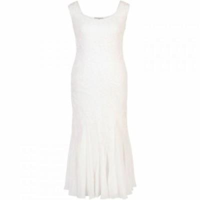 チェスカ Chesca レディース ワンピース ワンピース・ドレス Embroidered and Beaded Bridal Dress Ivory