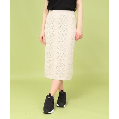 Bon mercerie / ボン メルスリー 【セットアップ/手洗い可】コットン混すずらんニットスカート