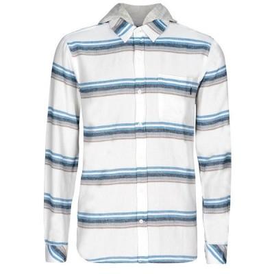 ハーレー シャツ トップス メンズ Men's Portland Stripe Flannel Hoodie Sail