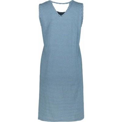 モドオードック Mod-o-doc レディース ワンピース デニム タンクドレス ワンピース・ドレス Denim Stripe Jersey Tank Dress with Back Cutout Blue