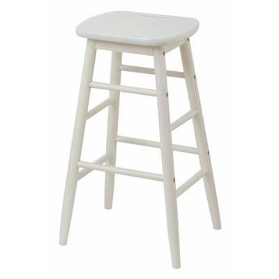 スツール 高さ60cm ine 姫系 ホワイト 白 ハイスツール 木製 天然木 椅子 ( イス チェア 腰掛け カウンターチェア ハイチェア 1人掛け 軽量 )