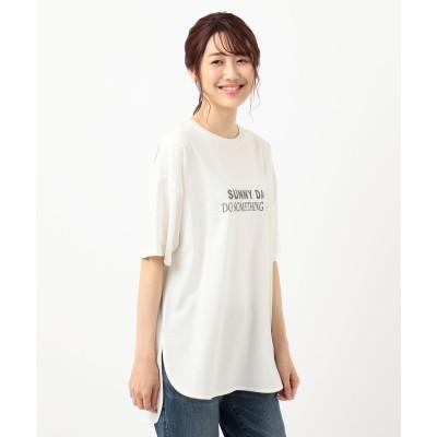any FAM オーガビッツプリントTシャツ (アイボリー系)