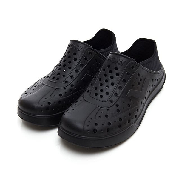 PONY 中性款黑色洞洞水鞋TROPIC 92U1SA04BK