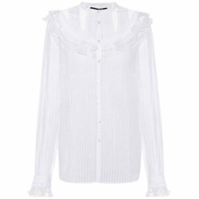 アレキサンダー マックイーン McQ Alexander McQueen レディース ブラウス・シャツ トップス Lace-embellished cotton shirt Optic White
