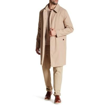 コールハーン メンズ ジャケット&ブルゾン アウター Solid Trench Rain Coat TAN