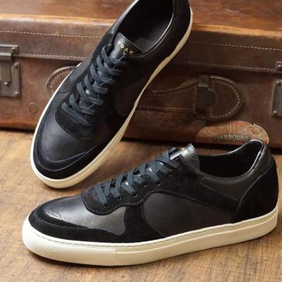 ヨーク YOAK メンズ ユリス ULYSE 日本製 スニーカー 靴 BLACK ブラック系 FW19