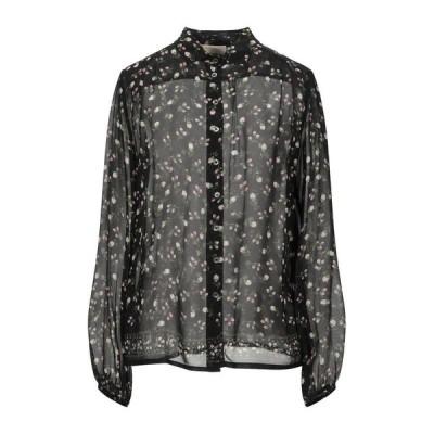 SEMICOUTURE フローラル柄シャツ&ブラウス ファッション  レディースファッション  トップス  シャツ、ブラウス  長袖 ブラック