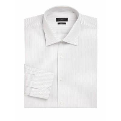 サックスフィフスアベニュー メンズ ドレスシャツ ワイシャツ COLLECTION Striped Dress Shirt