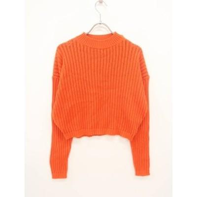 Uniqlo U(ユニクロユー)ミドルゲージクルーネックセーター 長袖 オレンジ レディース Aランク XS [委託倉庫から出荷]