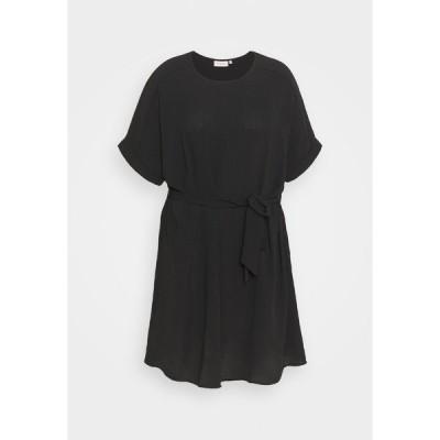 オンリー カルマコマ ワンピース レディース トップス CARJACKIE KNEE DRESS - Day dress - black