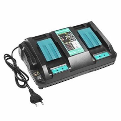 【送料無料】Endro マキタ DC18RD 充電器 2口急速充電器 マキタ 14.4V/18V バッテリー 用 互換品 BL1430 BL1440 BL1450 BL1460 BL1815 BL