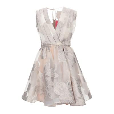 MIAU by CLARA ROTESCU ミニワンピース&ドレス ベージュ 40 シルク 60% / ポリエステル 40% ミニワンピース&ドレス