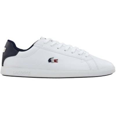 ラコステ メンズ スニーカー シューズ Graduate Sneakers White/Navy/Red