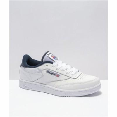 リーボック REEBOK INTERNATIONAL LTD. レディース スニーカー シューズ・靴 Reebok Club C Foundation White and Vintage Black Shoes W