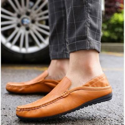 シューズ  メンズ スリッポン カジュアルシューズ ビジネス ドライビング ドライビング デッキシューズ 紳士靴 軽量 靴 大人