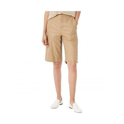 Vince ヴィンス レディース 女性用 ファッション ショートパンツ 短パン Leather Shorts - Khaki