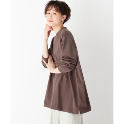 【オペークドットクリップ】 スペシャルコットン ロングスリーブ BIG Tシャツ レディース ガンメタリック 40(L) OPAQUE.CLIP