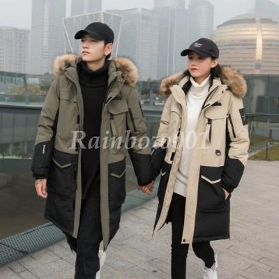 ペアダウンコート 中綿ダウンジャケット レディース メンズ 冬 30代40代 中綿ジャケット アウター 暖かい フード付き オシャレ 軽量 厚手上品