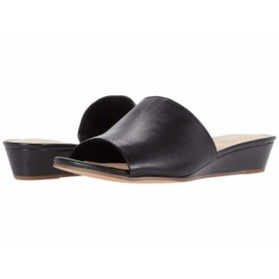 Clarks クラークス レディース 女性用 シューズ 靴 ヒール Sense Slide Black Leather【送料無料】