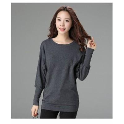 レディース Tシャツ 長袖 無地 シンプル ロングTシャツ M L XL 2XL 3XL 4XL 大きいサイズ 送料無料