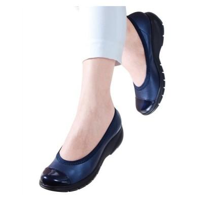 靴 レディース ラックラック空飛ぶ パンプス エナメルバイ カラー  22〜24.5cm ニッセン nissen