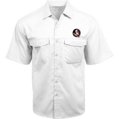 アンティグア シャツ トップス メンズ Antigua Men's Florida State University Game Day Woven Fishing Shirt White