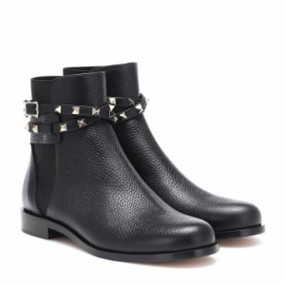 ヴァレンティノ Valentino レディース ブーツ ショートブーツ シューズ・靴 Garavani Rockstud leather ankle boots Nero