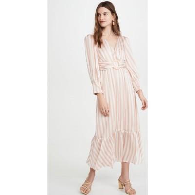 パットボー PatBO レディース ワンピース ミドル丈 ワンピース・ドレス Cabana Stripe Belted Midi Dress Pink/White
