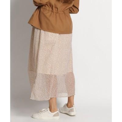 スカート インドレオパギャザースカート