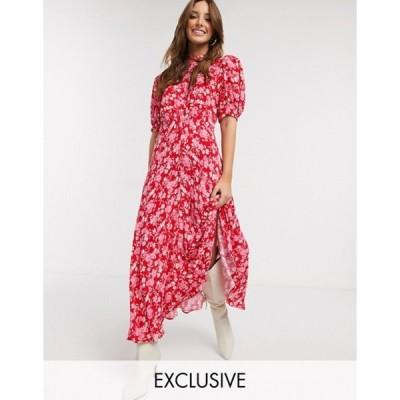 ゴースト レディース ワンピース トップス Ghost exclusive luella floral print midi dress in pink floral