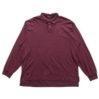 ポロラルフローレン 長袖ポロシャツ ラガーシャツ ワインレッド サイズ表記:XXL