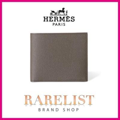 エルメス HERMES 財布 小財布 二つ折り 2つ折り グリエタン グレー ヴォーエプソン レザー シンプル