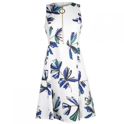 ディーケーエヌワイ DKNY Occasion レディース ワンピース ワンピース・ドレス DKNY half Zip Fit Flare Dress Multi