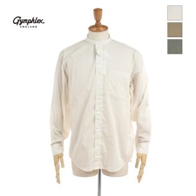 Gymphlex ジムフレックス メンズ ガーゼ 長袖 バンドカラーシャツ J-1352ETC