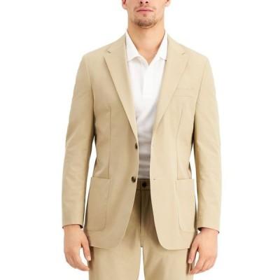トミー ヒルフィガー メンズ ジャケット・ブルゾン アウター THTECH Men's Modern Fit Stretch Khaki Suit Jacket