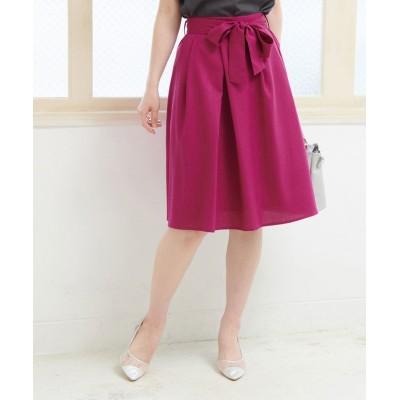 (ROPE' PICNIC/ロペピクニック)重ねタックリボン付きスカート/レディース ピンク系(65)