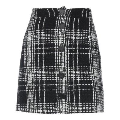 FONTANA COUTURE ミニスカート ブラック 44 ウール 91% / ナイロン 6% / カシミヤ 3% ミニスカート